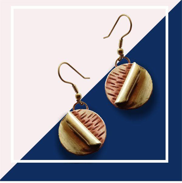 Peel Of Earrings Of Copper And Brass | Peel Of Earrings Of Copper And Brass |