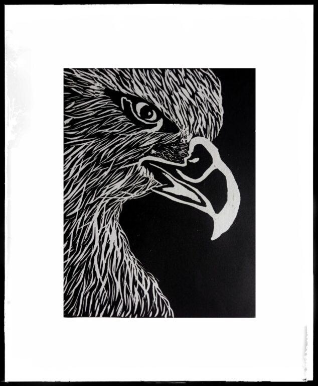 Eagle, Linocut Print | Eagle Linocut Print |