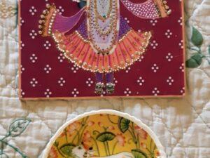 Pichwai Art Theme Wall Plates