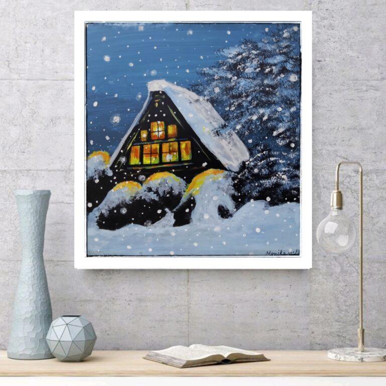 Snow Falling, Landscape  