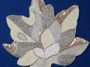 Leaf Beaded Table Mat